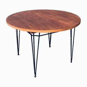 Mid-Century Modern Extendable Dining Table, Belgium, 1950s
