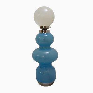 Blaue Murano Glas Tischlampe, 1970er