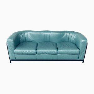 Postmodern Onda 3 Seater Leather Sofa by De Pas, Durbino, Lomazzi for Zanotta, Italy, 1985