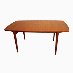 Scandinavian Extendable Dining Table in Teak, 1960s