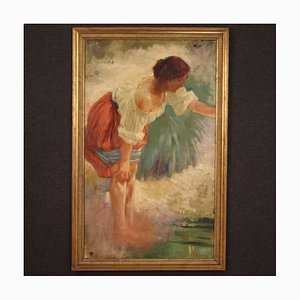 Italienische Malerei, die eine junge Bäuerin darstellt