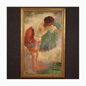 Pintura italiana que representa a una joven campesina