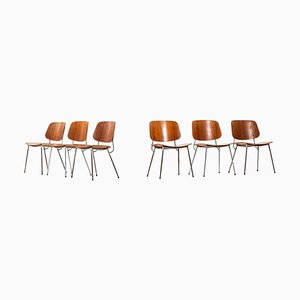 Danish Dining Chairs by Børge Mogensen for Søborg Furniture, Set of 6