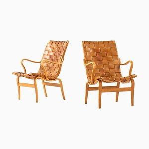 Swedish Eva Armchairs by Bruno Mathsson for Karl Mathsson, Set of 2