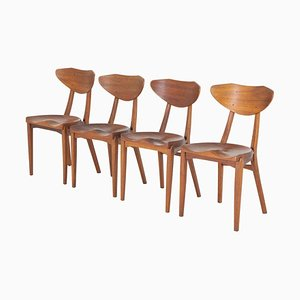 Dining Chairs by Richard Jensen and Kjærulff Rasmussen, Set of 4