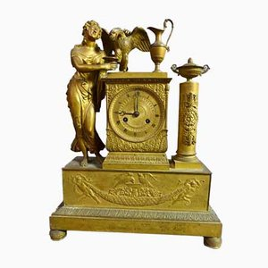 Empire Gilt Bronze Pendulum Clock