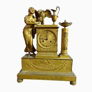 Orologio a pendolo in bronzo dorato