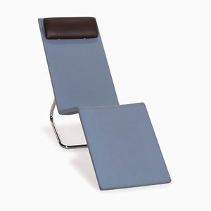 MVS Polyethuran Chaise Lounger in Ice Blue Stainless Steel from Vitra