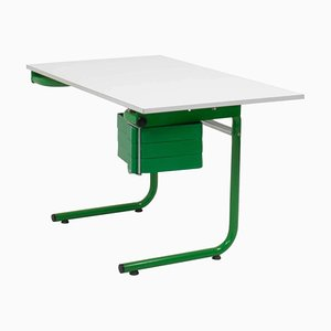 White and Green Desk by Joe Colombo for Bieffeplast, 1970s
