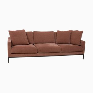 Dusky Pink Fabric Relax Sofa by Florence Knoll for Knoll