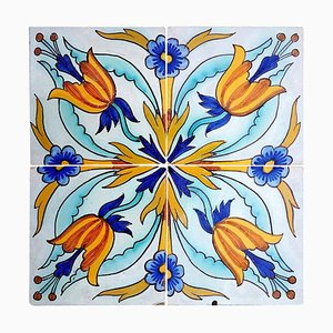 Handmade Antique Ceramic Tile by Devres, France, 1910s