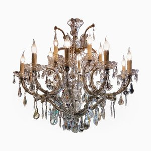 Grand Lustre Maria Theresa à 14 Lampes, Italie, 1960s