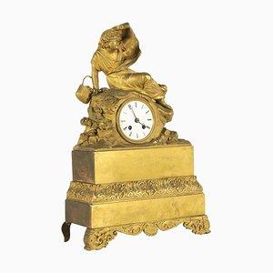 Vergoldete Bronze Uhr