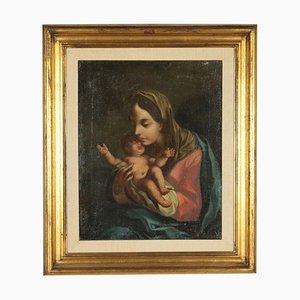 Madonna y niño, óleo sobre lienzo