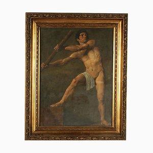 Figura maschile, olio su tela