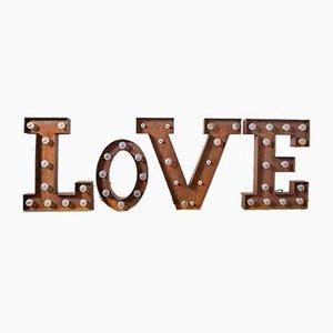 Letras luminosas, amor