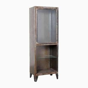 Blackened Bare Steel Vertical Cabinet