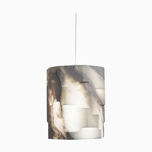 Lámpara colgante Totem pequeña de mármol de Marmi Serafini