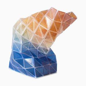 Vaso Touch-Me 2.0 in vetro di Murano fatto a mano di Matteo Silverio