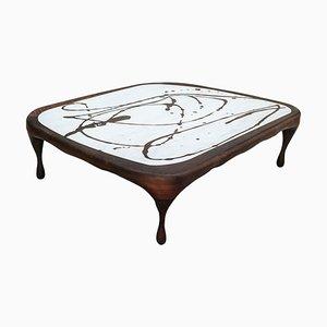 Oak on Marble Splash Coffee Table by Francesco Perini