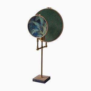 Blaugraue Circle Tischlampe von Sander Bottinga für Cor