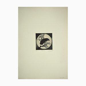 Aguafuerte original, 1972, Leo Guida, Notturno