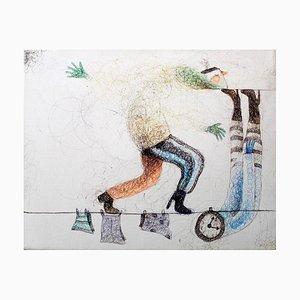 Keziat, In Balance, Original Mixed Media Drawing, 2016