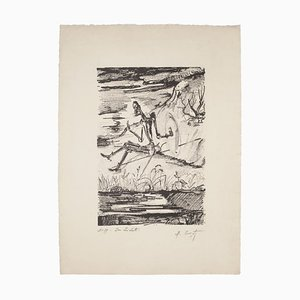 Maurice Crozet, Don Quixote, Original Lithograph, Mid-20th Century