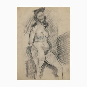 Nude, Original Pencil Drawing, 1940