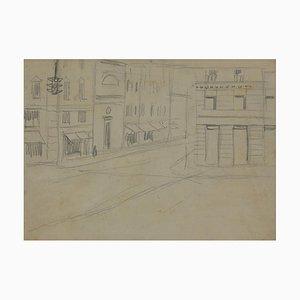 Dibujo de Lápiz Gabriele Galantara, The Street, Original, 1905