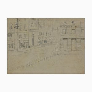 Gabriele Galantara, The Street, Original Bleistiftzeichnung, 1905
