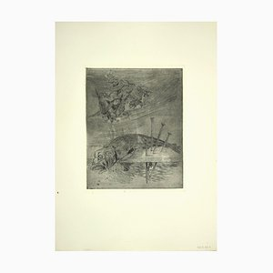Leo Guida, Fisch, Original Radierung, 1970er