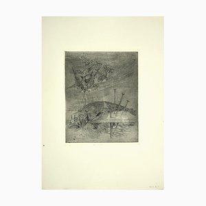 Leo Guida, Fish, Original Etching, 1970s