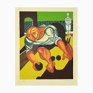 Giuseppe Migneco, Bowler, Originale Lithographie, spätes 20. Jahrhundert