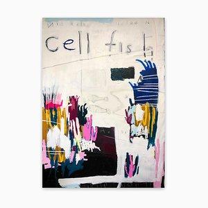 Pintura abstracta de Nathan Paddison, Cellfish, 2021