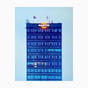 Blaue Martini, Mailand, Architektonische Farbfotografie, 2019, Orma
