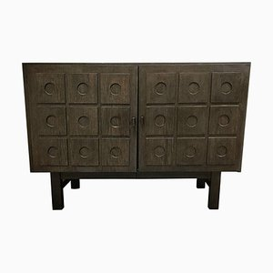 Mueble brutalista negro, años 70