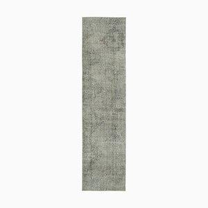 Grey Overdyed Runner Rug