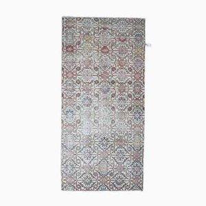 Vintage Turkish Runner Oushak Handmade Wool Rug