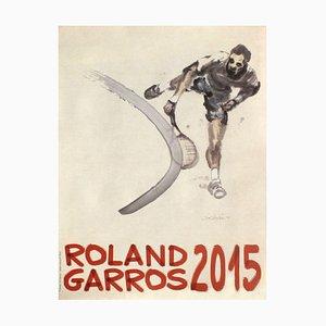 2015 Roland-Garros Official Poster by Du Zhenjun