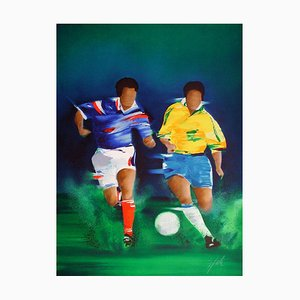 Football: Brazil France Final in 1998 by Victor Spahn