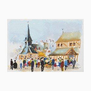 Market Day in Honfleur by Urbain Huchet