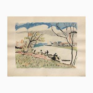 Fischer entlang der Seine von André Derain