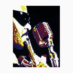 Roland Kirk Au Micro by Bernard Rancillac