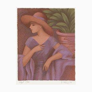 Woman in Lila Kleid von Annie Retivat
