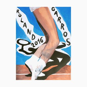 2016 Marc Desgranchamps Plakat von Roland-Garros