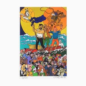 Three Full Moons for Tintin by Gudmundur Erro