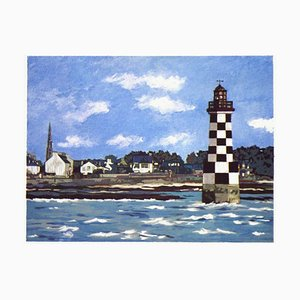 Brittany Ile Tudy, The Lighthouse at the Checkered by Jacques Godin