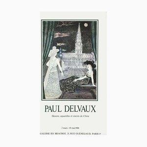 Póster de la Expo 88 Galerie Brachot de Paul Delvaux