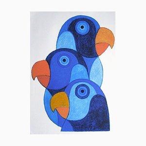 Blaue Papageie von Philippe Josse Barberousse